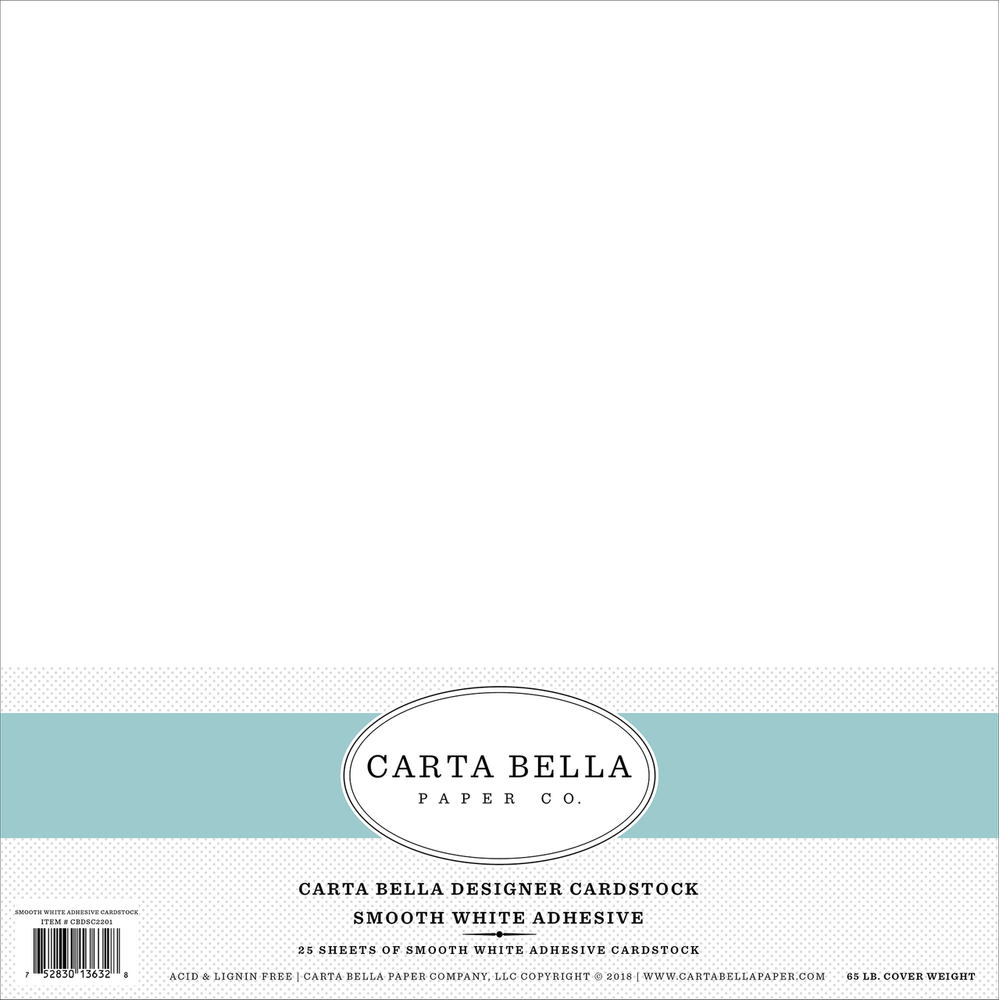 Smooth White Adhesive Cardstock