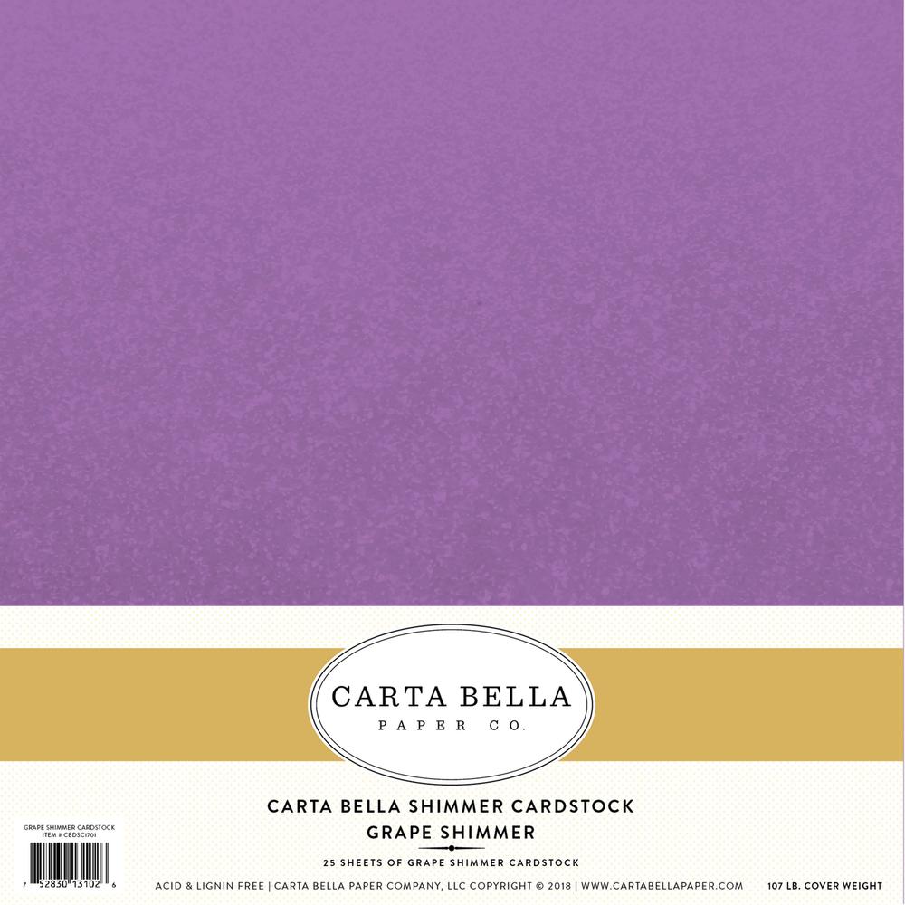 Grape Shimmer Cardstock
