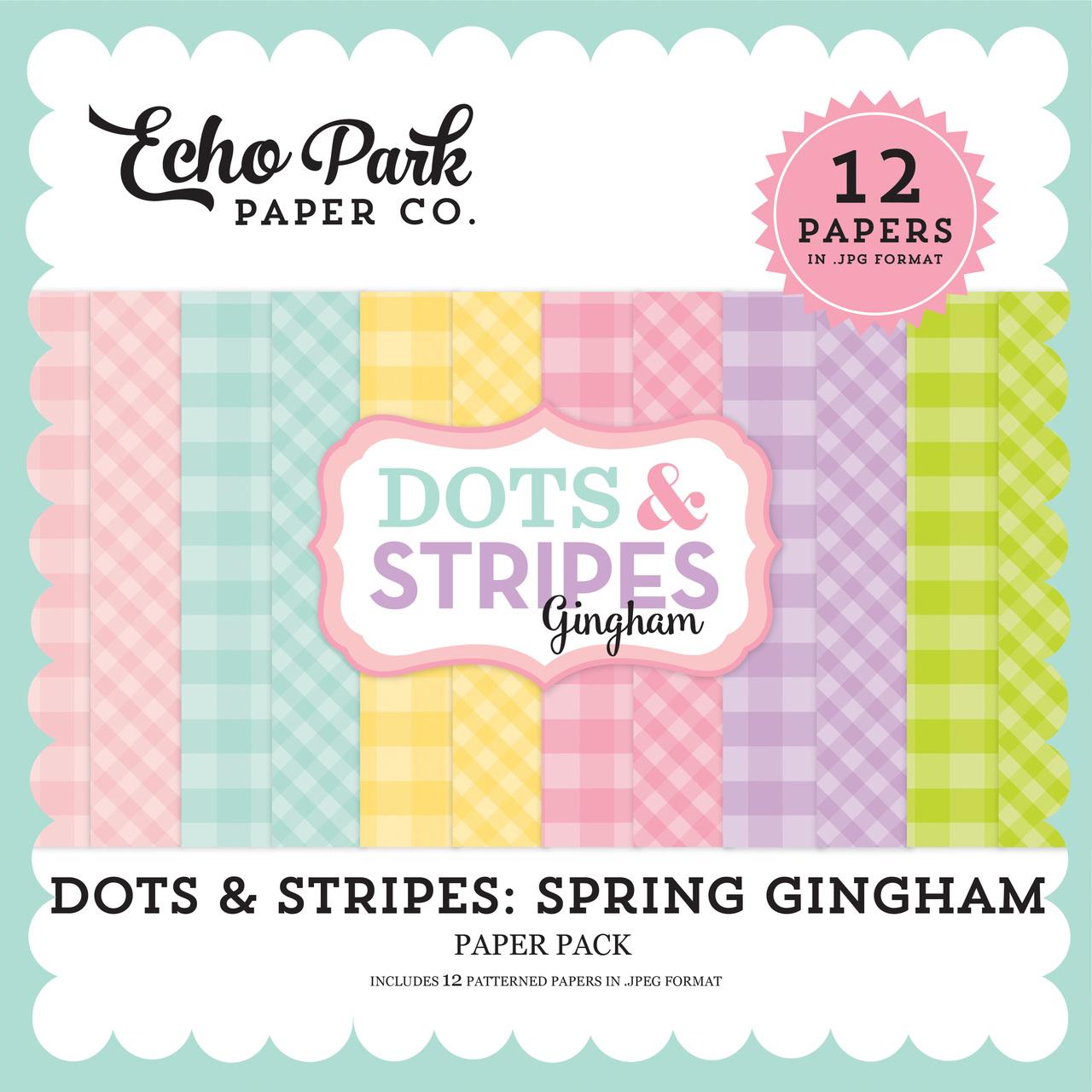 Dots & Stripes: Spring Gingham Paper Pack