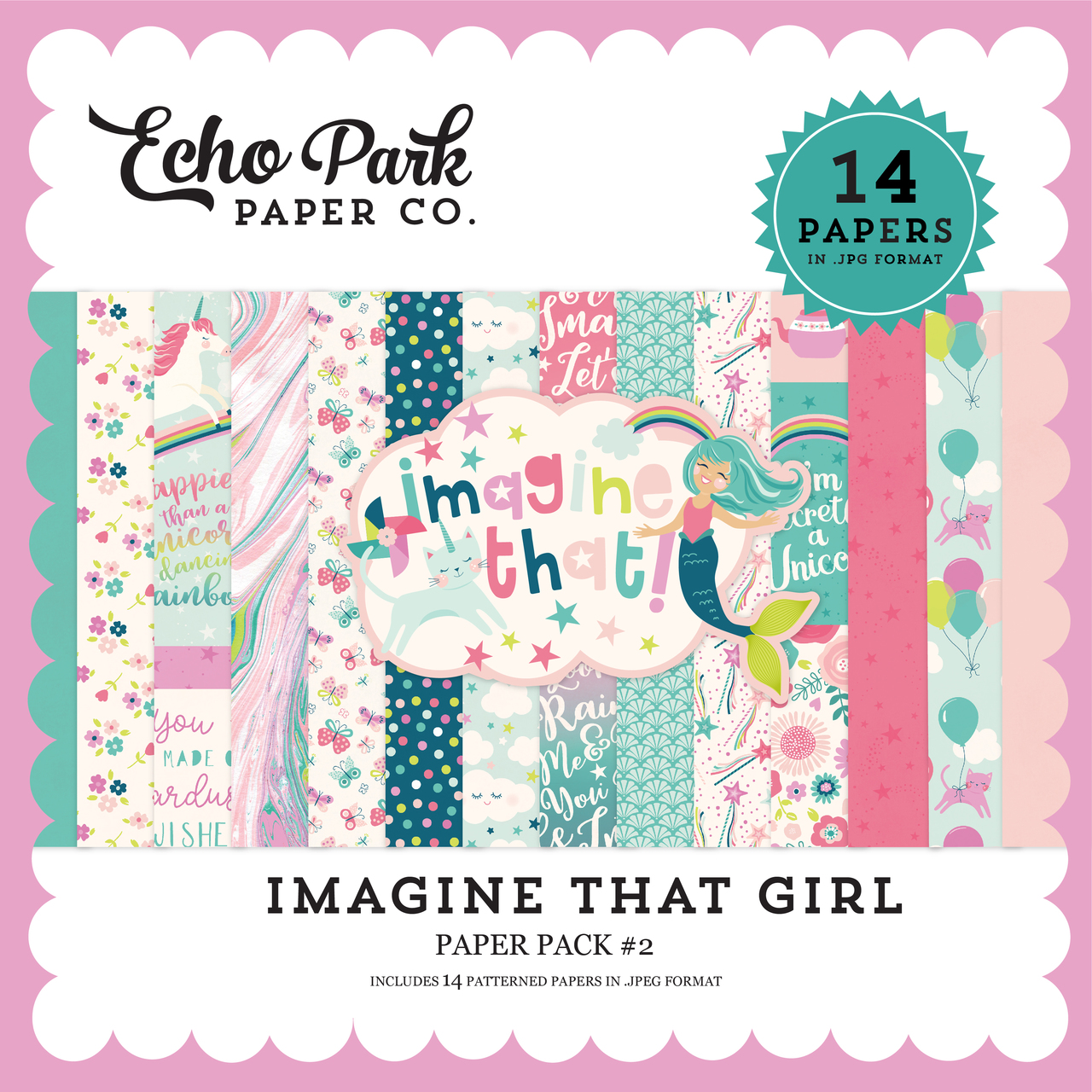 Imagine That Girl Paper Pack #2