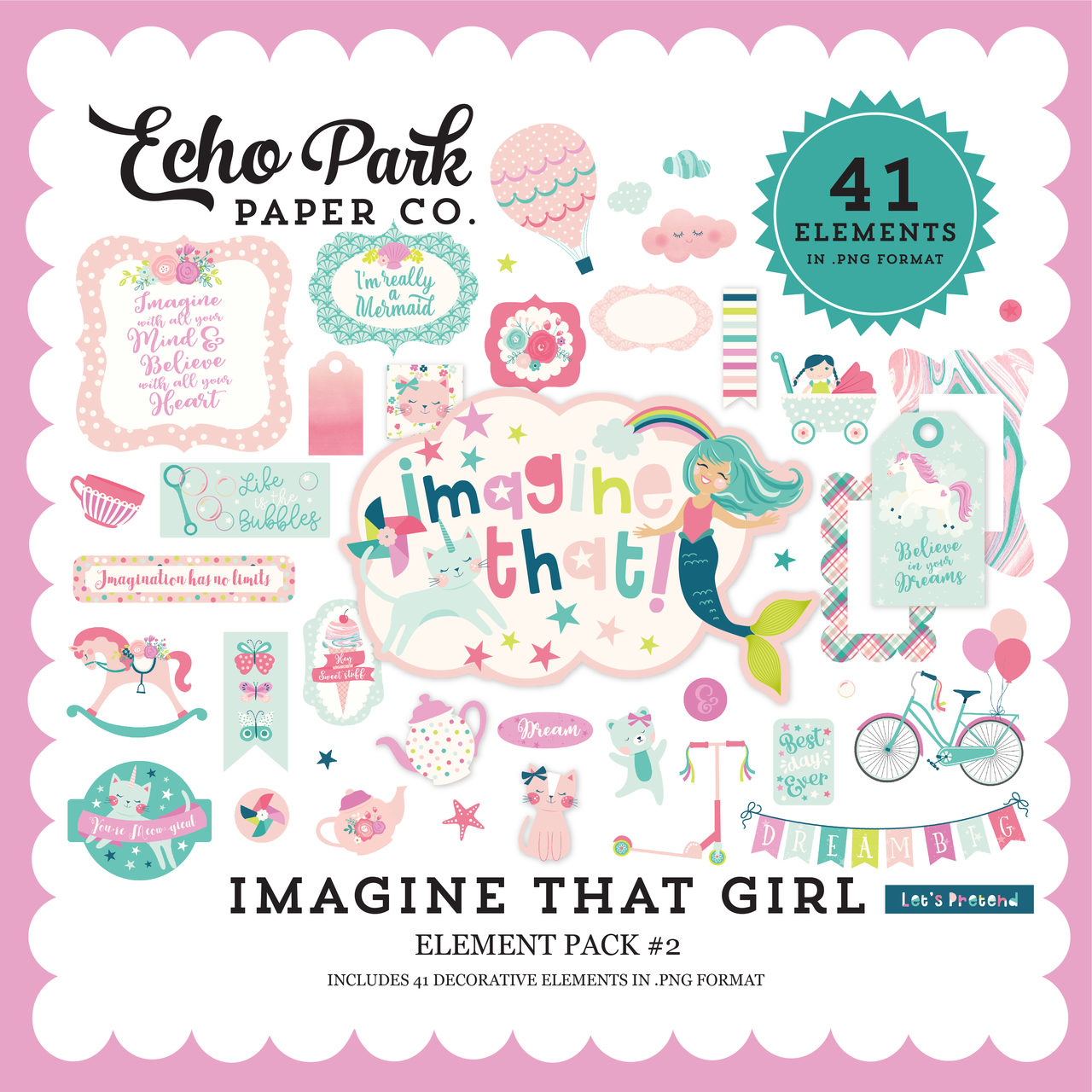 Imagine That Girl Element Pack #2