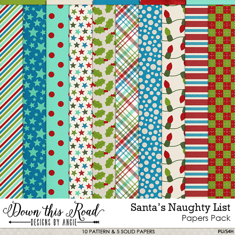 Santa's Naughty List Paper Pack