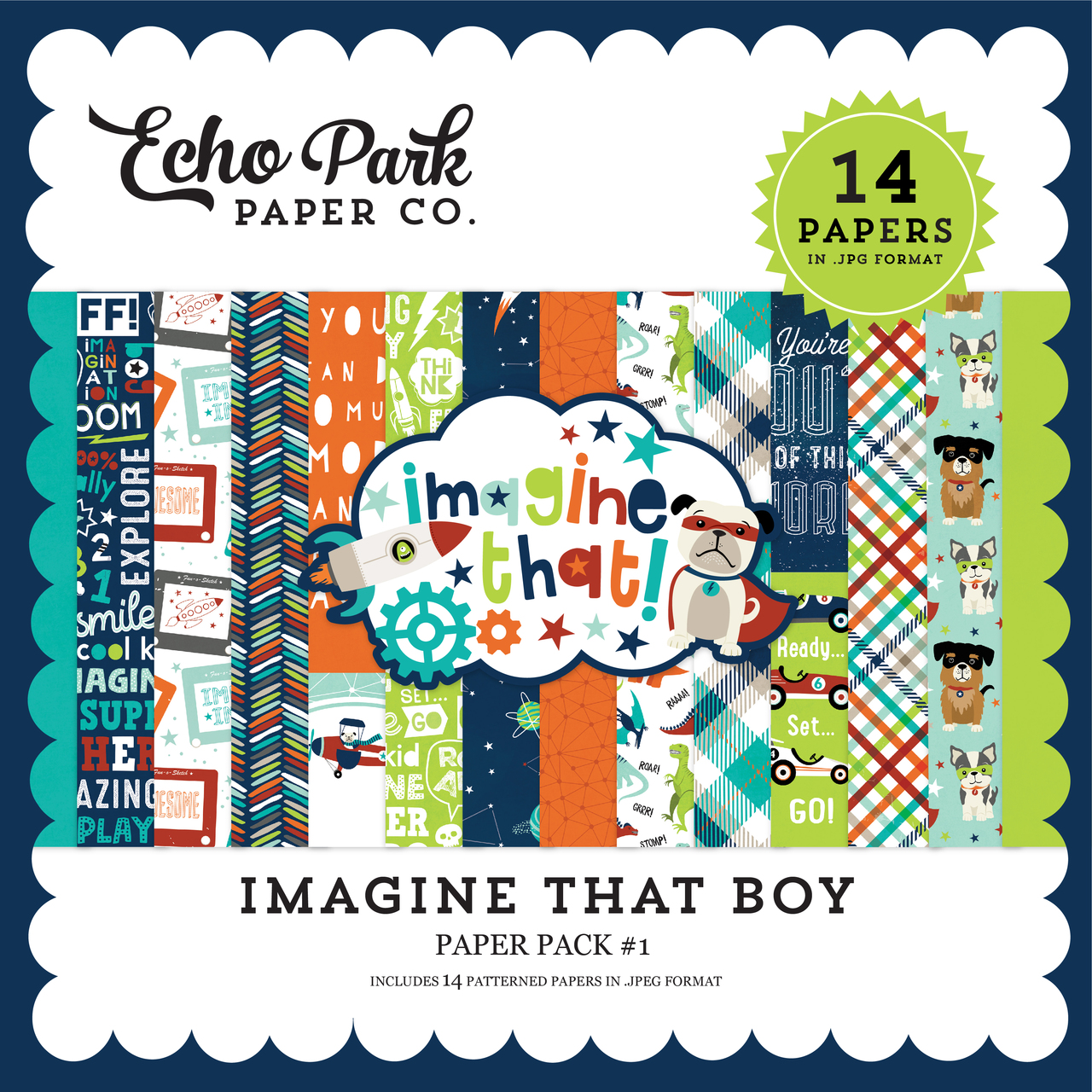 Imagine That Boy Paper Pack #1