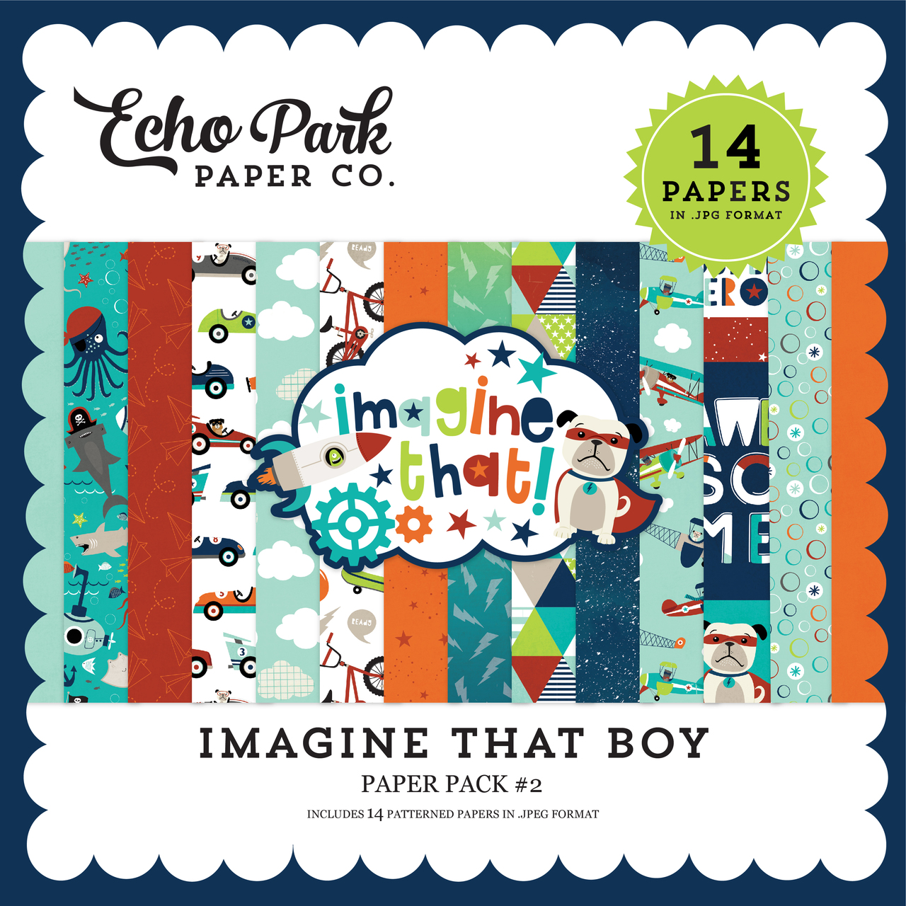 Imagine That Boy Paper Pack #2