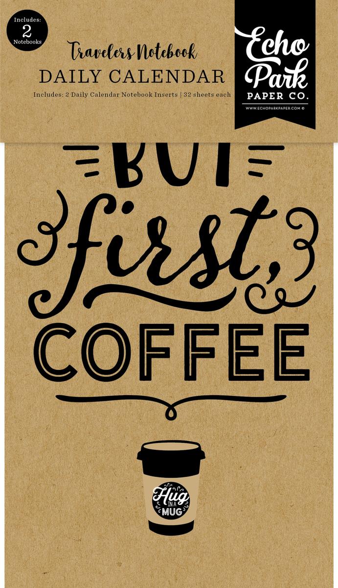 Coffee & Friends Travelers Notebook Insert - Daily Calendar