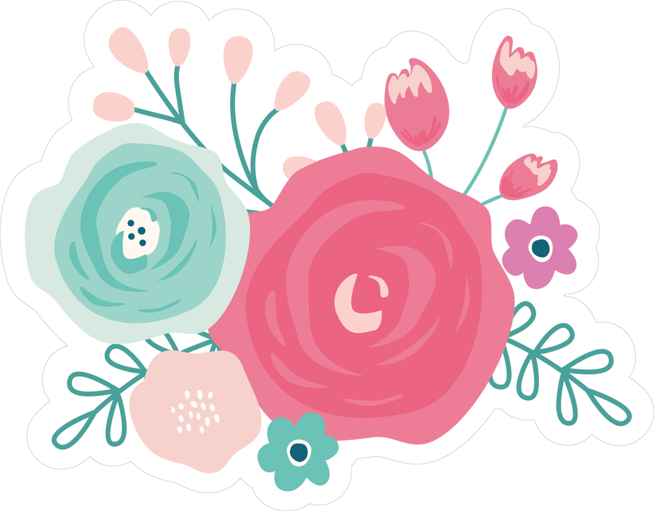 Flower Bundle Print & Cut File
