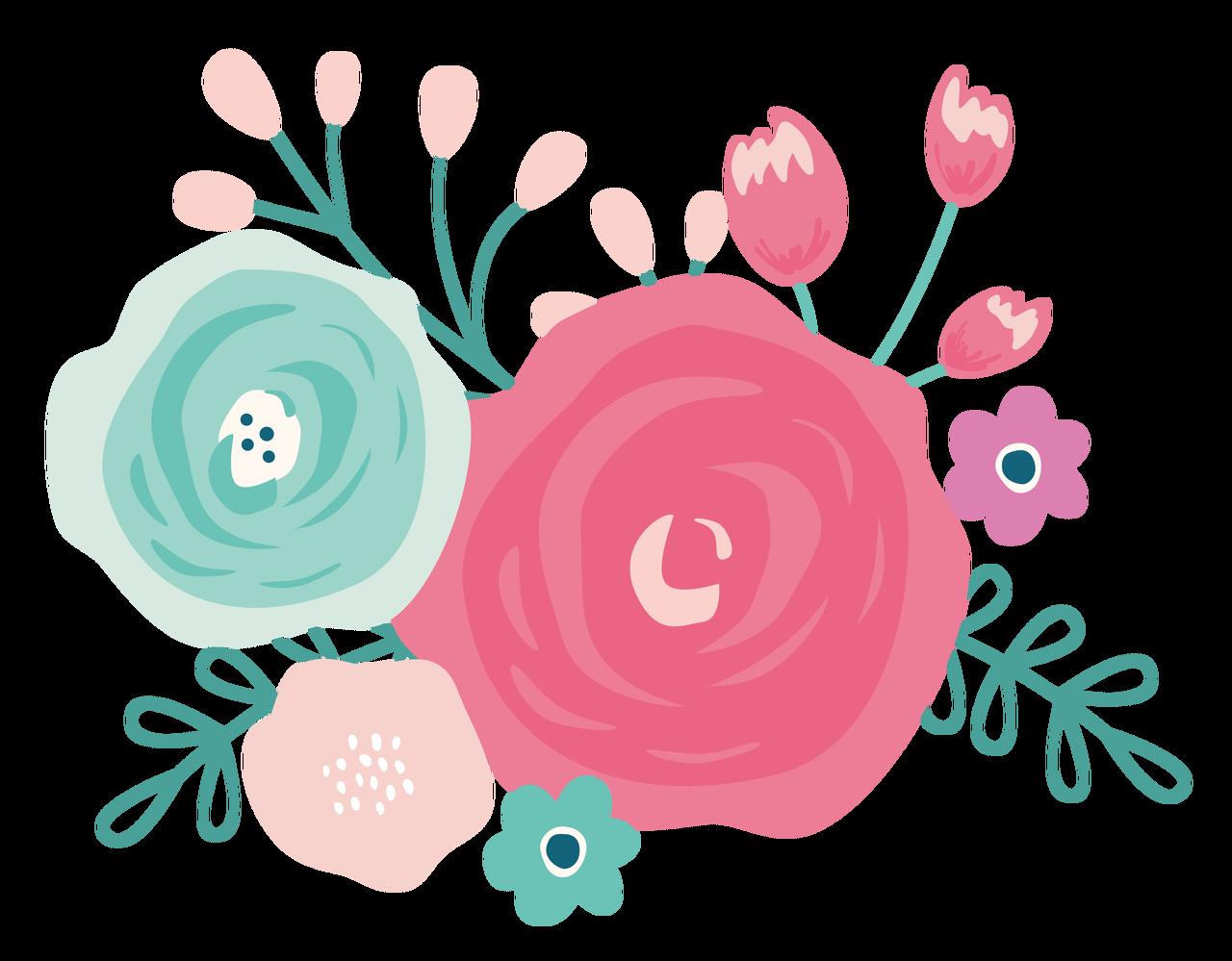 Flower Bundle Print & Cut File