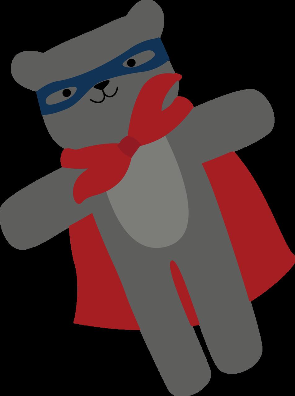 Super Bear SVG Cut File