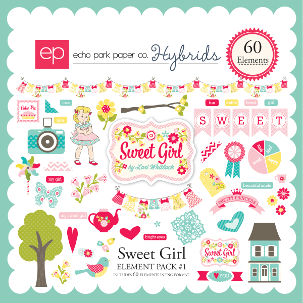 Sweet Girl Element Pack #1