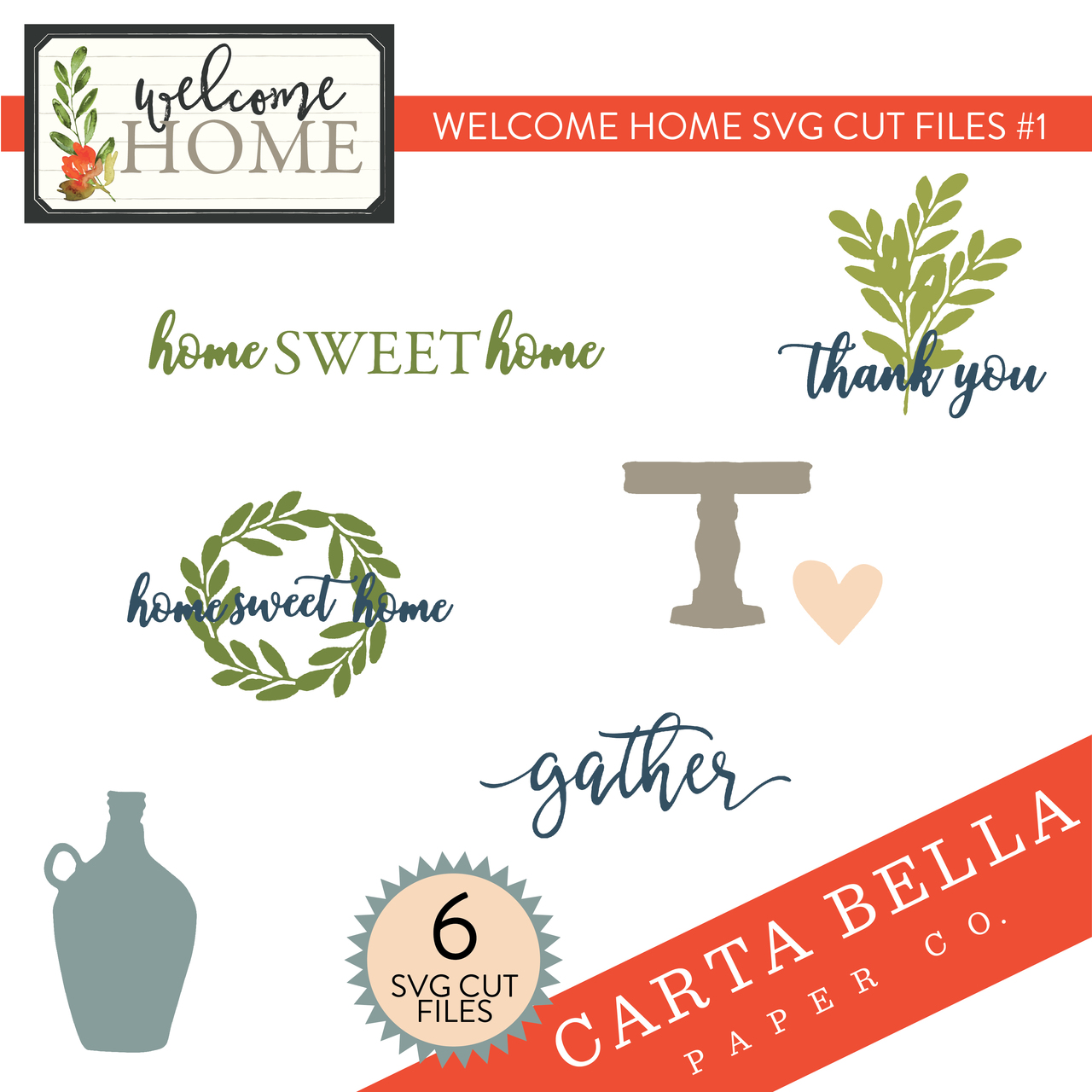 Welcome Home SVG Cut Files #1