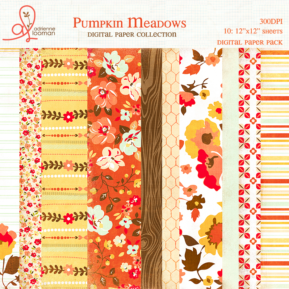 Paper Pack Pumpkin Meadows