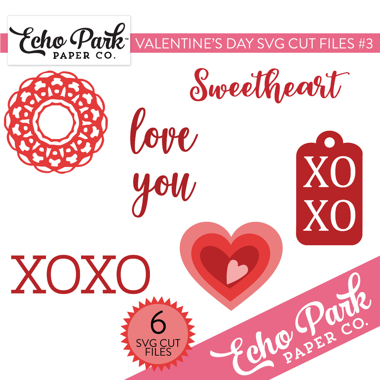 Valentines SVG Cut Files #3