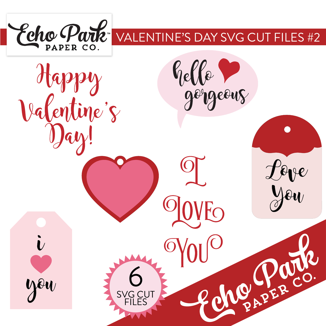Valentines SVG Cut Files #2