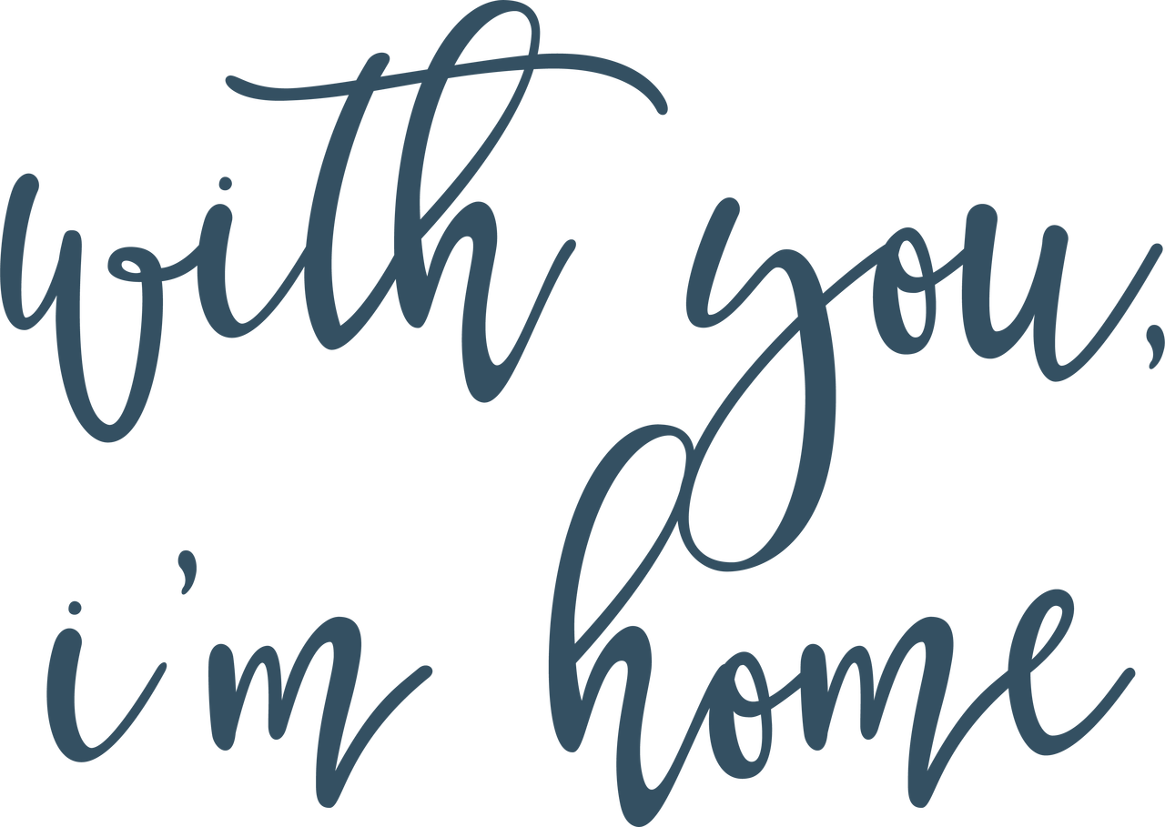 With You SVG Cut File