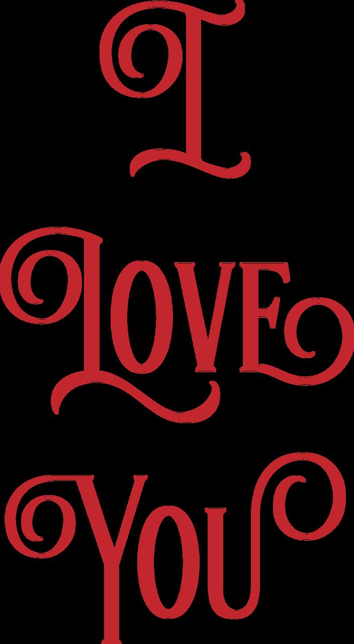 I Love You #2 SVG Cut File