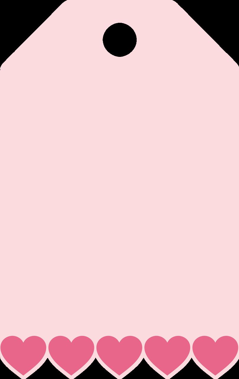 Heart Scallop Tag SVG Cut File