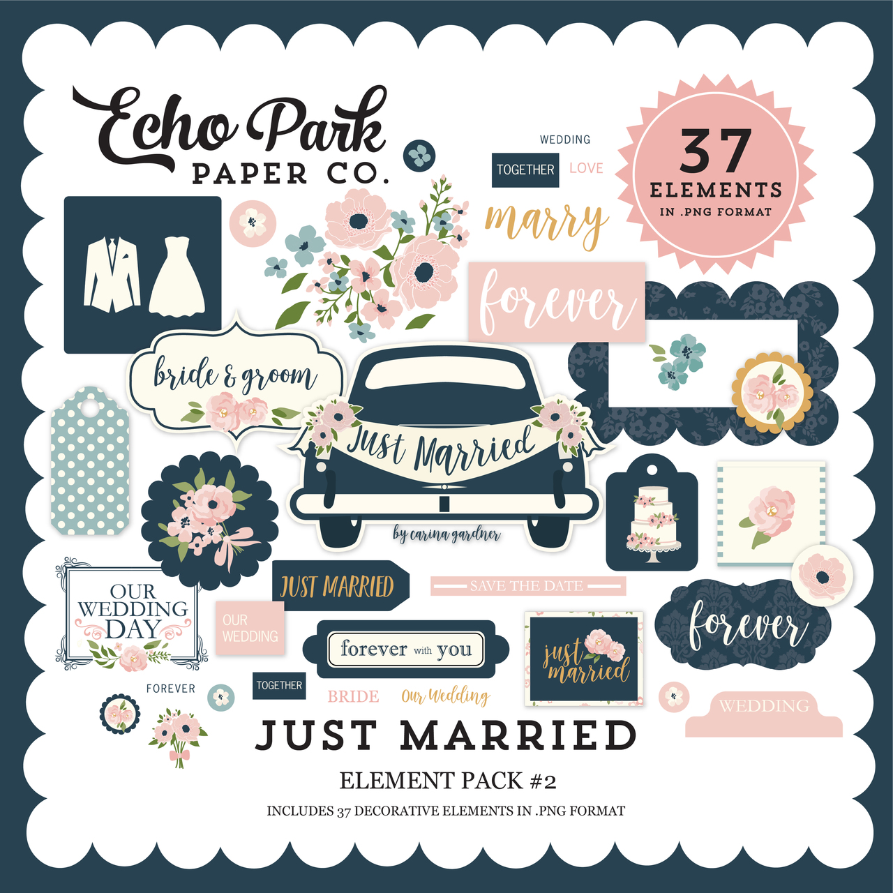 Just Married Element Pack #2