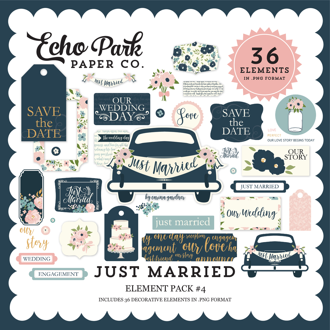 Just Married Element Pack #4