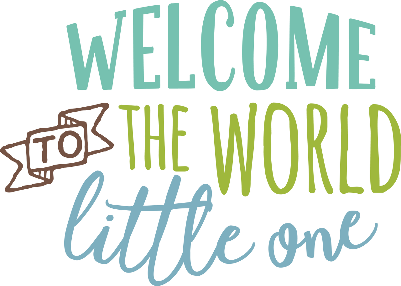 Welcome to the World SVG Cut File