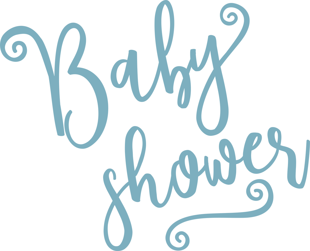 Baby Shower SVG Cut File