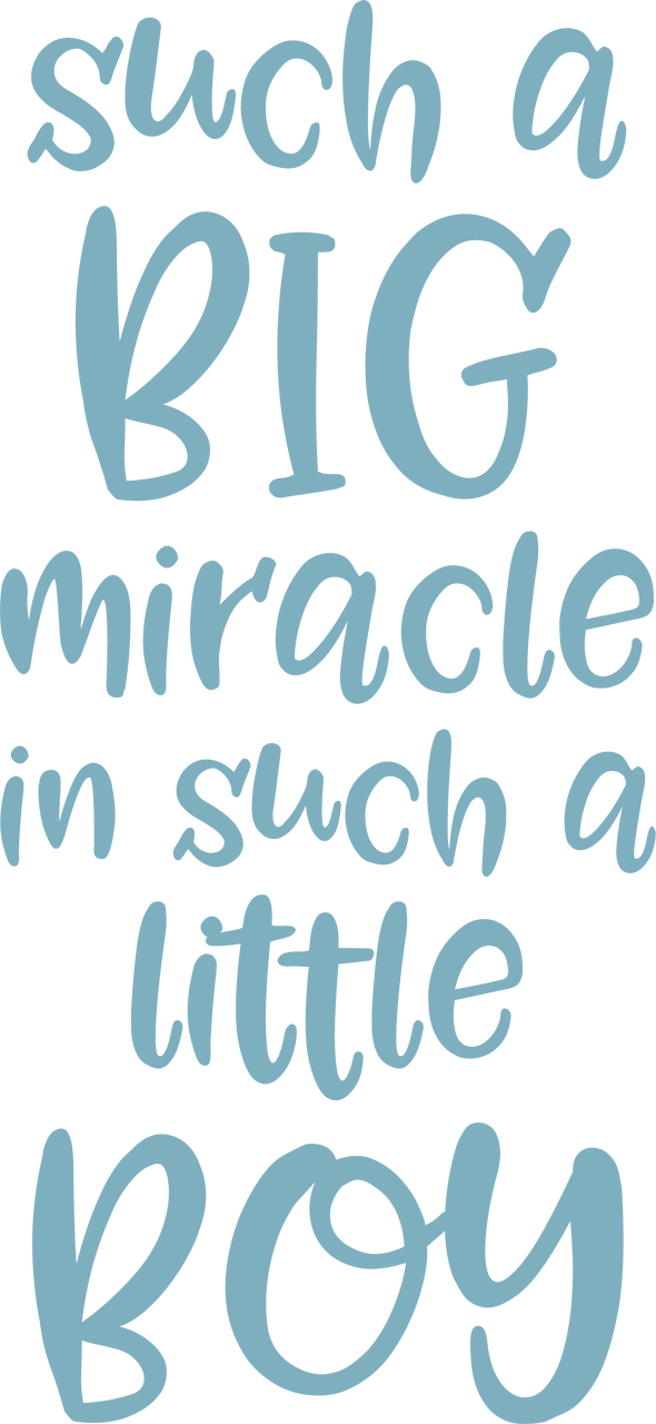 Such A Big Miracle SVG Cut File
