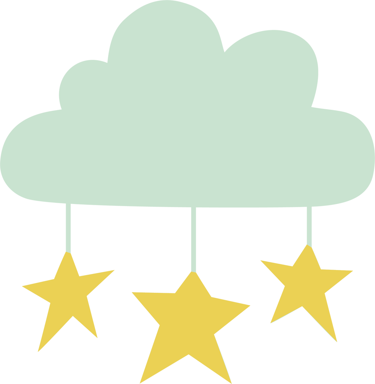 Cloud and Star SVG Cut File