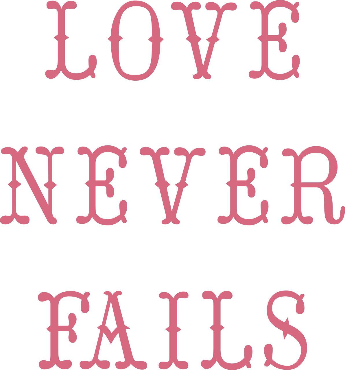 Love Never Fails Svg Cut File Snap Click Supply Co