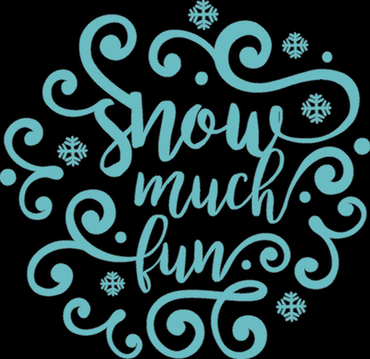 Snow Fun SVG Cut File