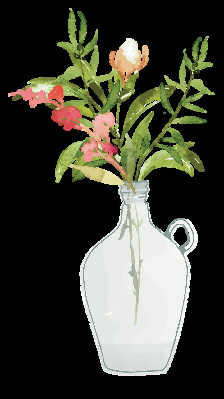 Flowers In A Vase Print & Cut File