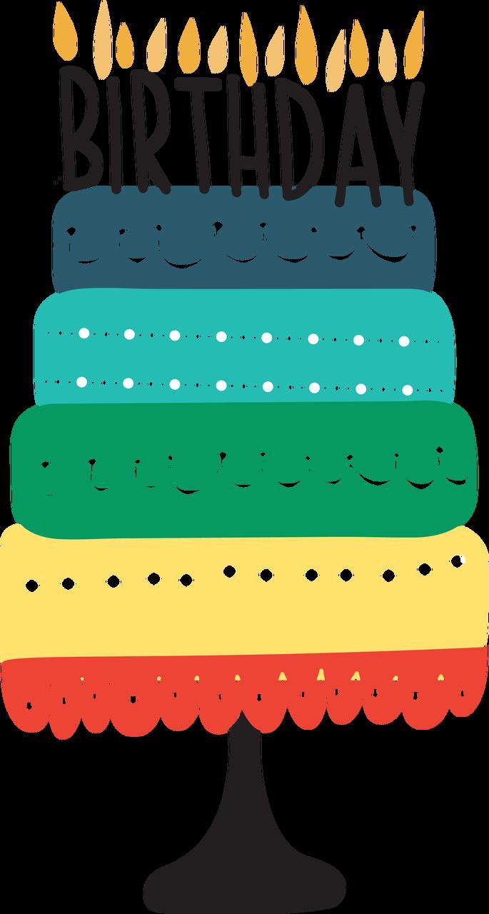 Birthday Cake #2 SVG Cut File