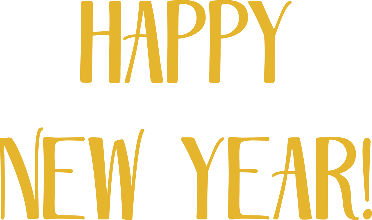Happy New Year #2 SVG Cut File