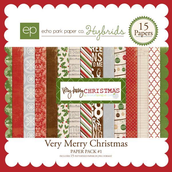Very Merry Christmas Paper Pack #1
