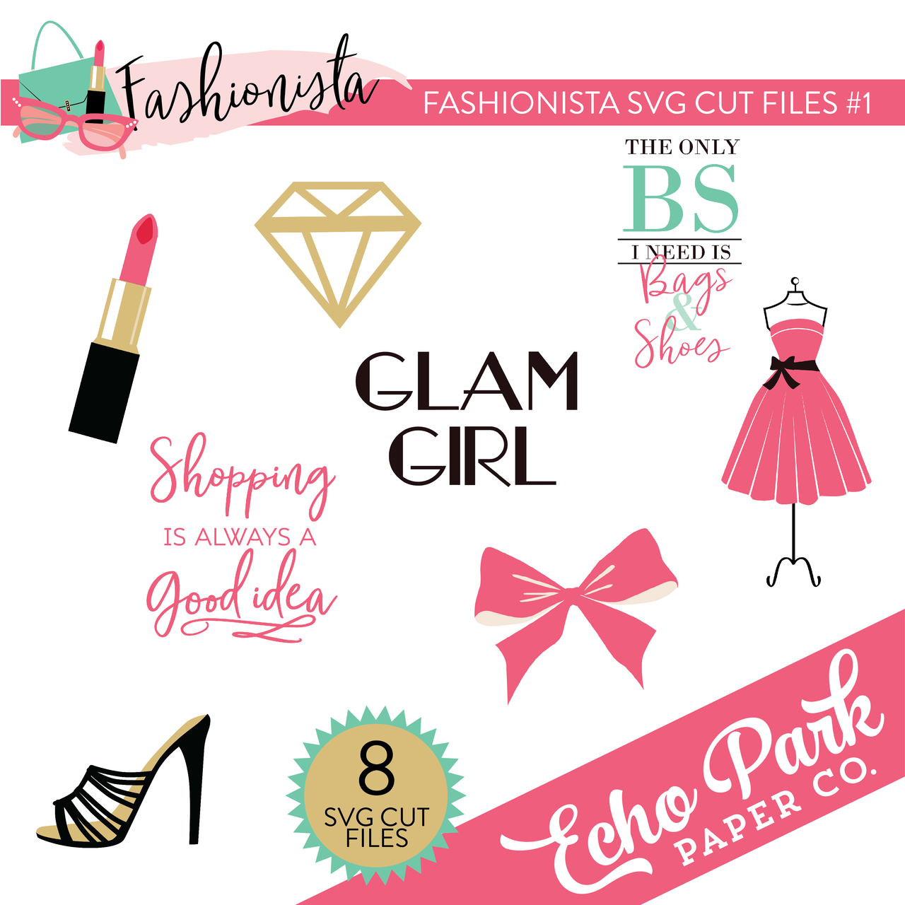 Fashionista SVG Cut Files #1