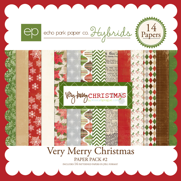Very Merry Christmas Paper Pack #2