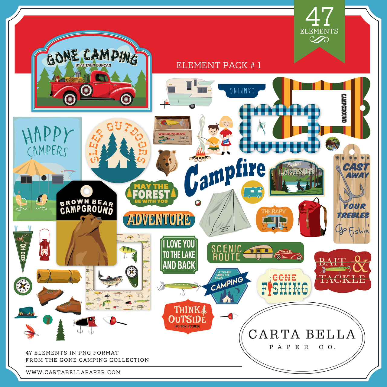 Gone Camping Element Pack #1