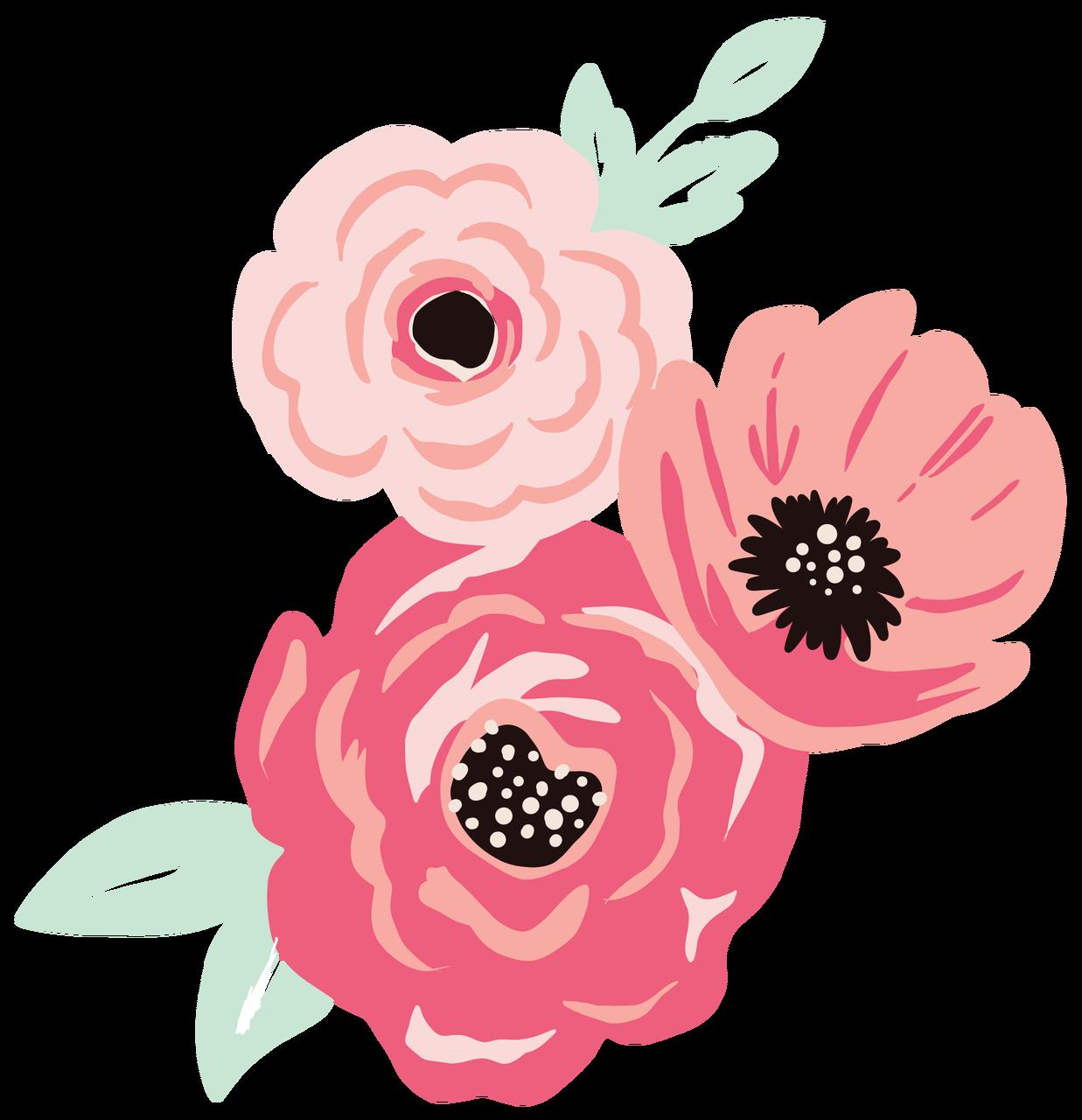Flower Bunch Print & Cut File