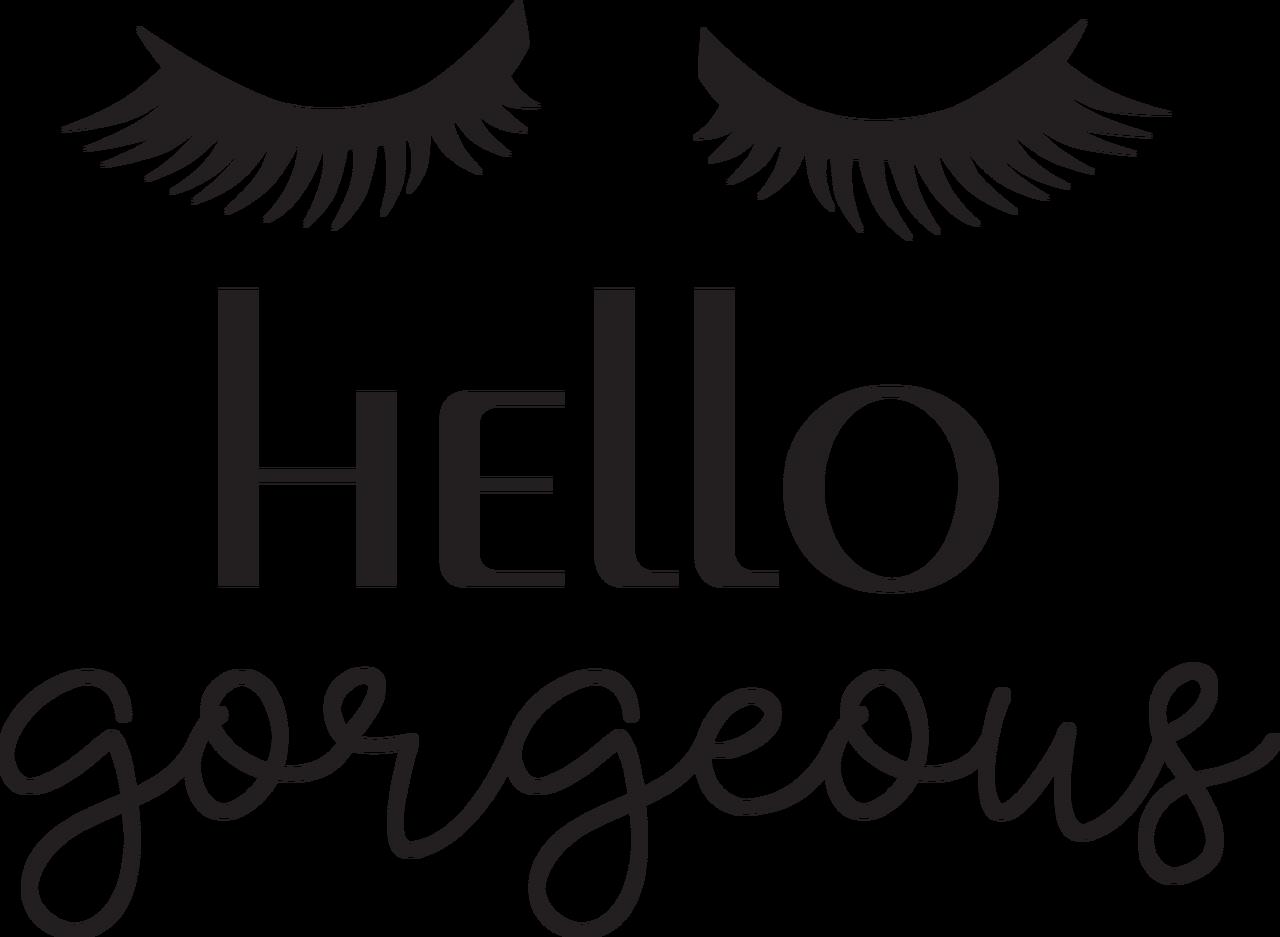 Hello Gorgeous #2 SVG Cut File