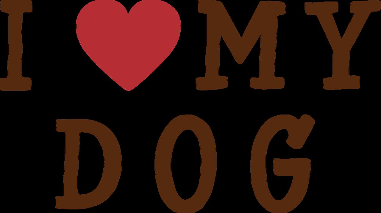I Heart My Dog SVG Cut File