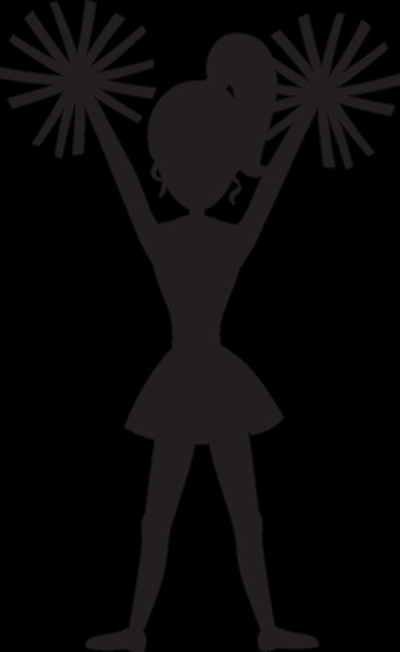 Cheer Silhouette #2 SVG Cut File