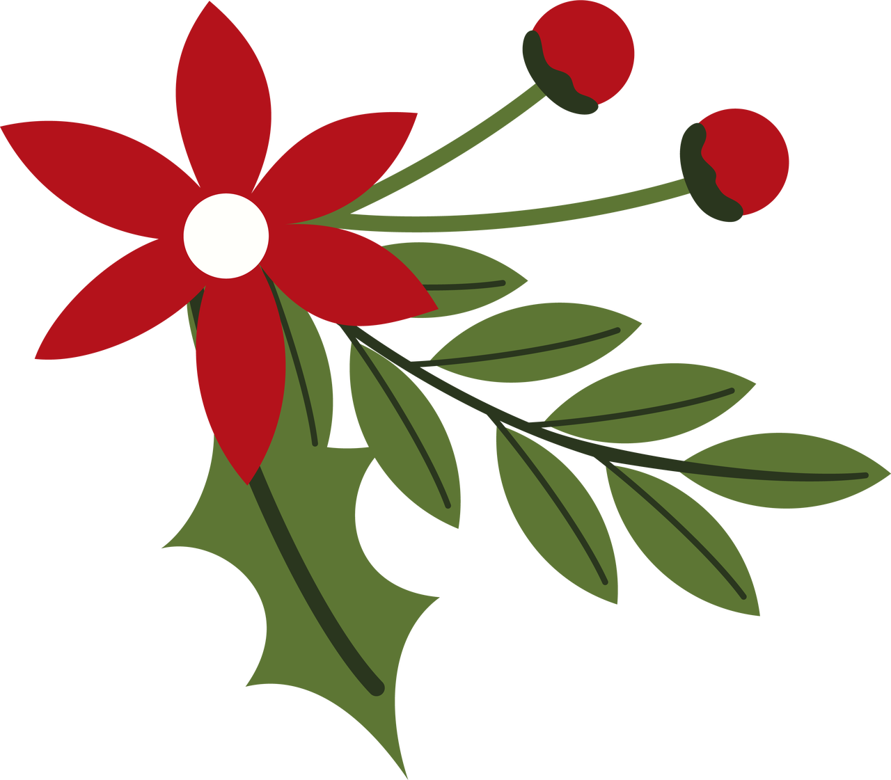 Holiday Flower SVG Cut File