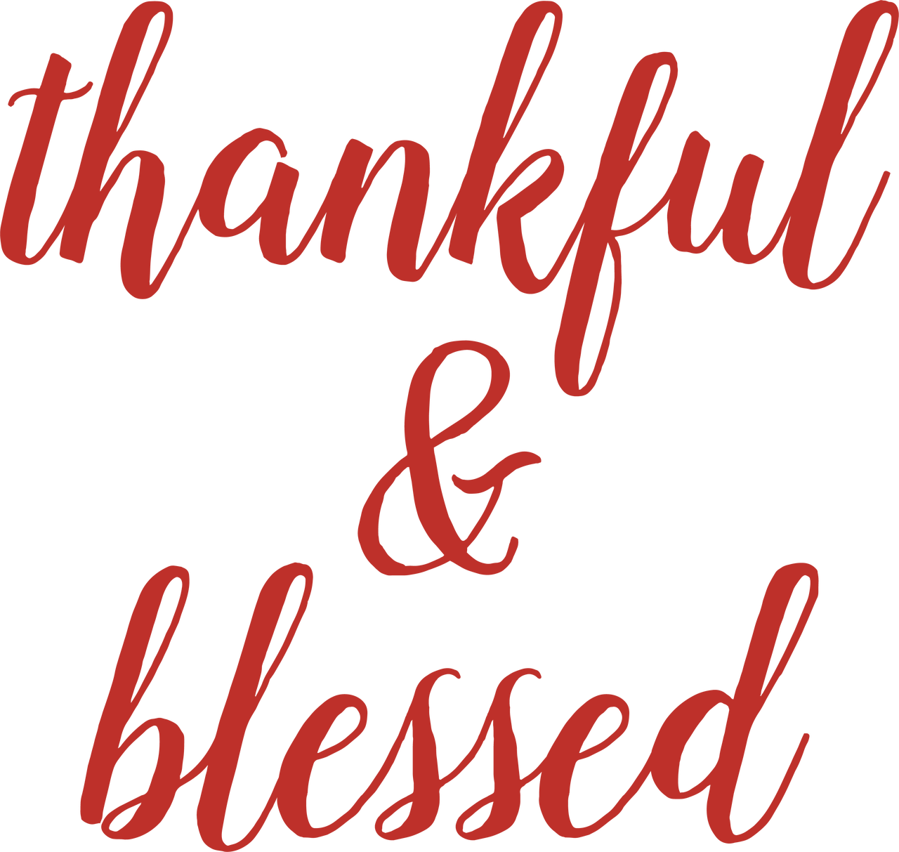 Thankful & Blessed SVG Cut File