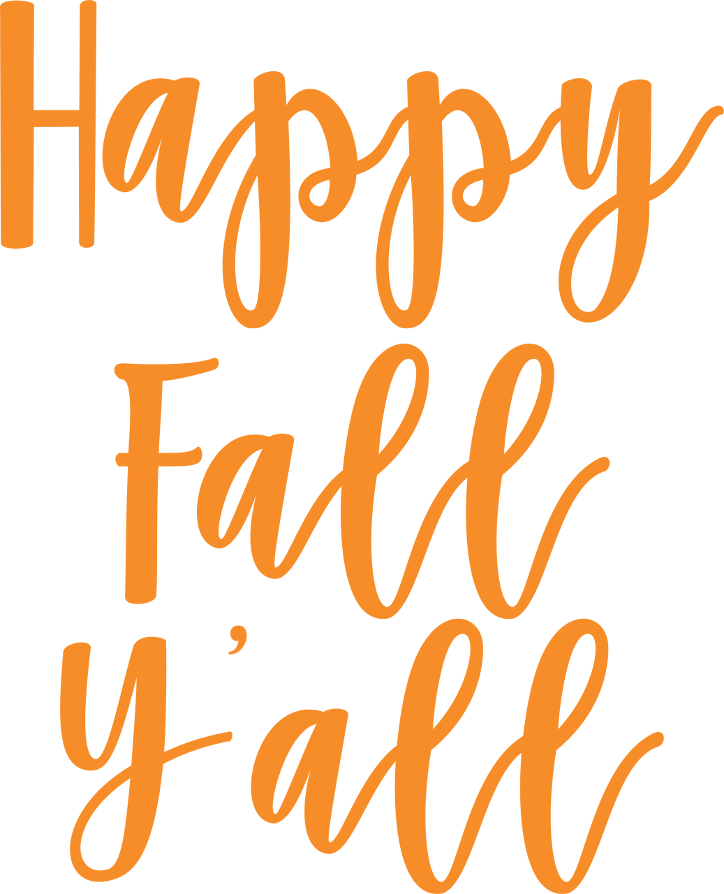 Happy Fall Y'all SVG Cut File
