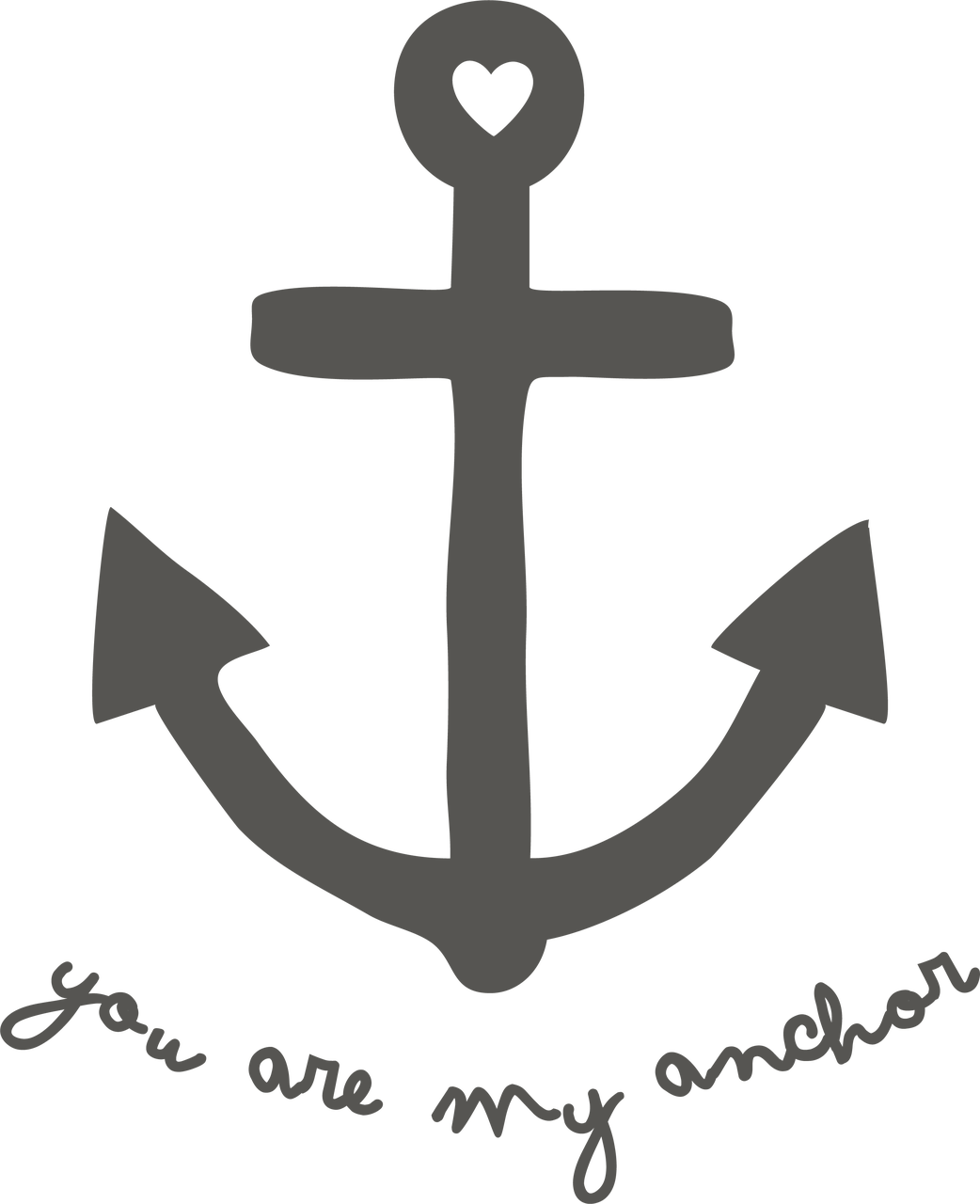 You Are My Anchor SVG Cut File