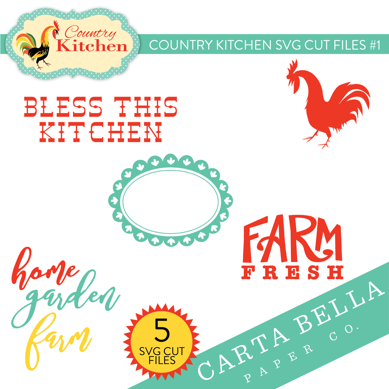 Country Kitchen SVG Cut Files #1
