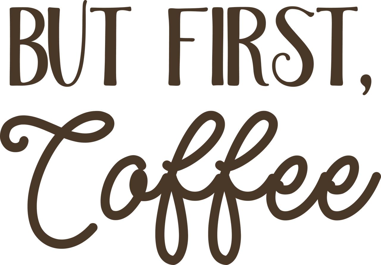 But First, Coffee SVG Cut File