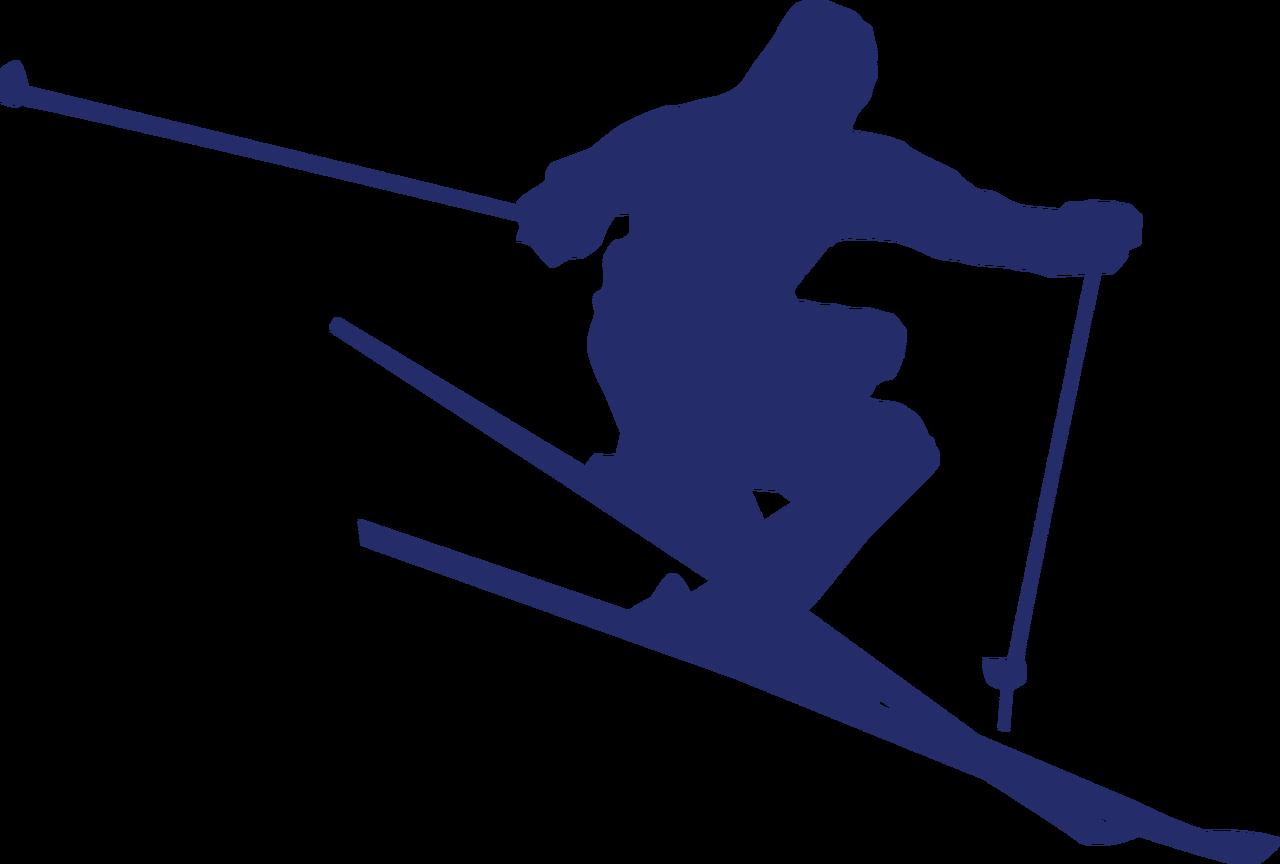 Skier #2 SVG Cut File