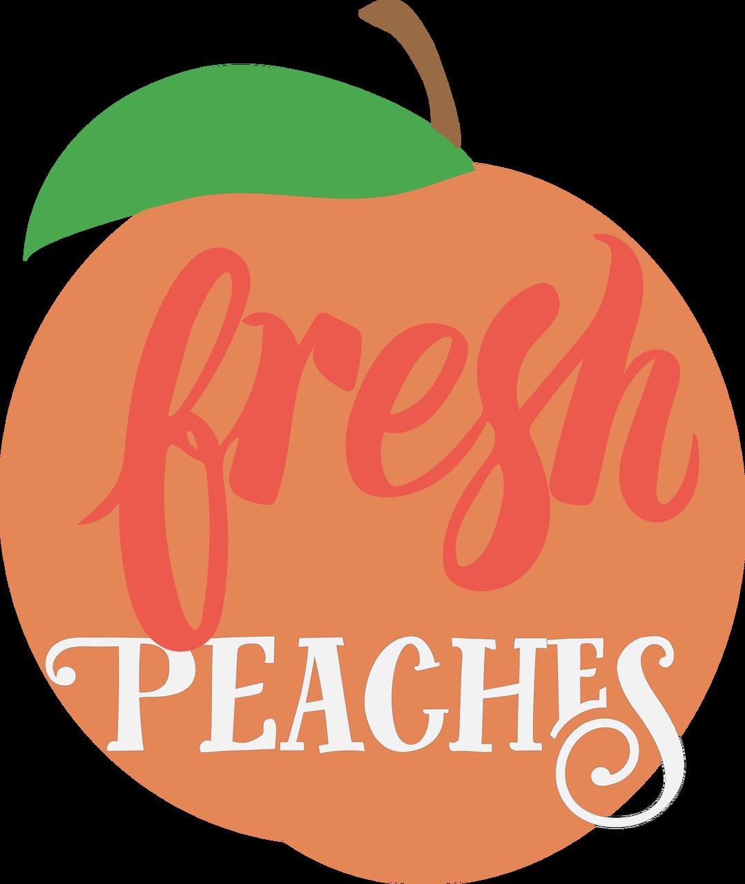 Fresh Peaches SVG Cut File