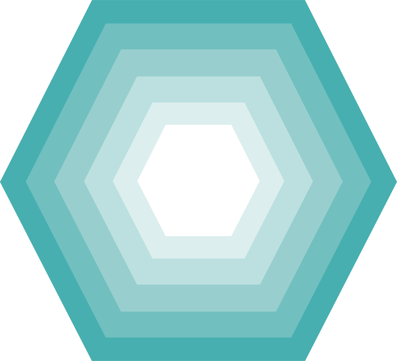 Hexagon Nesting Shape SVG Cut File