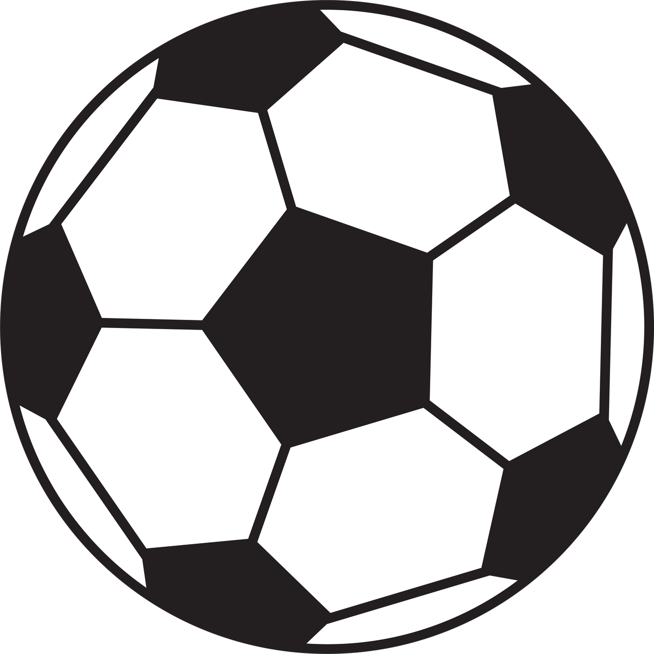Soccer Ball #2 SVG Cut File