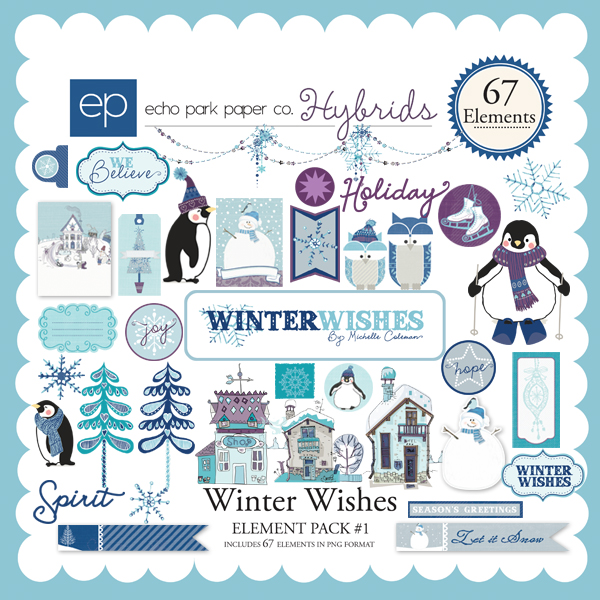 Winter Wishes Element Pack #1